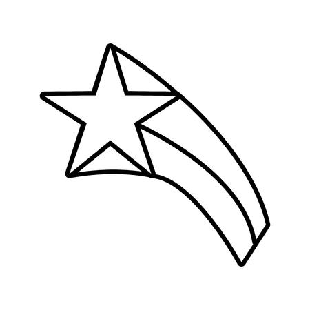star icon outline on white background vector illustration Stock Vector - 118160416