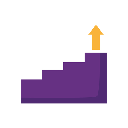 business stairs step arrow up vector illustration Foto de archivo - 124740601