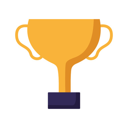 trophy award winner icon white background vector illustration  イラスト・ベクター素材
