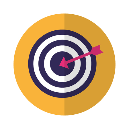 business target strategy arrow on white background vector illustration
