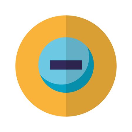 minus negative button icon design vector illustration