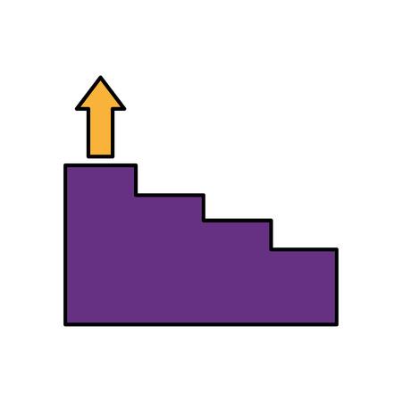 business stairs step arrow up vector illustration Foto de archivo - 124740628