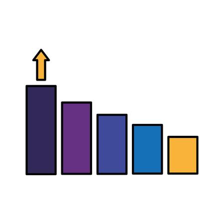 business financial chart growth arrow vector illustration