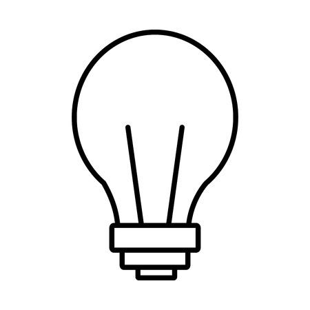 bulb light icon on white background vector illustration Illustration