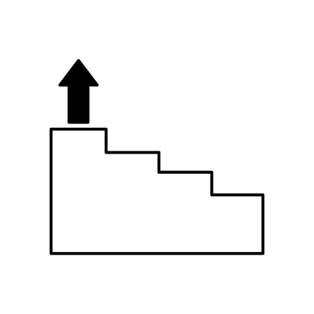 business stairs step arrow up vector illustration