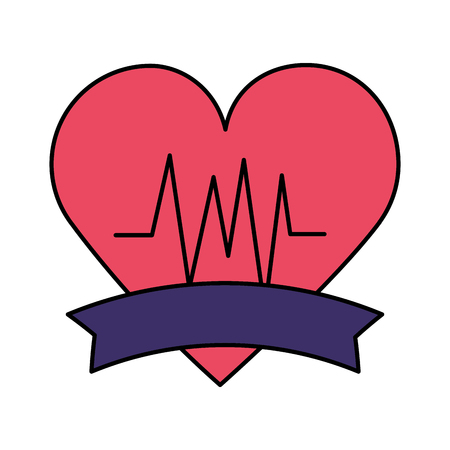 heart beat world health day vector illustration Ilustrace