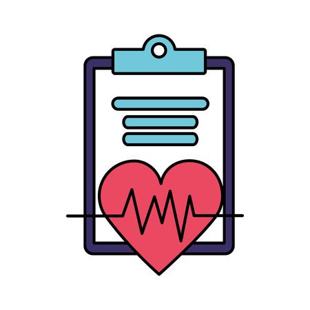 heartbeat clipboard report world health day vector illustration