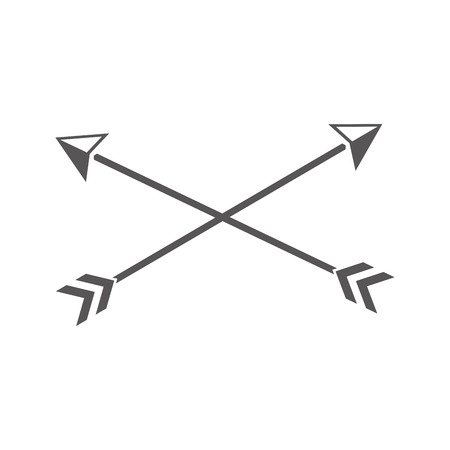 crossed arrows vintage on white background vector illustration