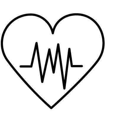 heartbeat medical health day icon vector illustration Foto de archivo - 124740969
