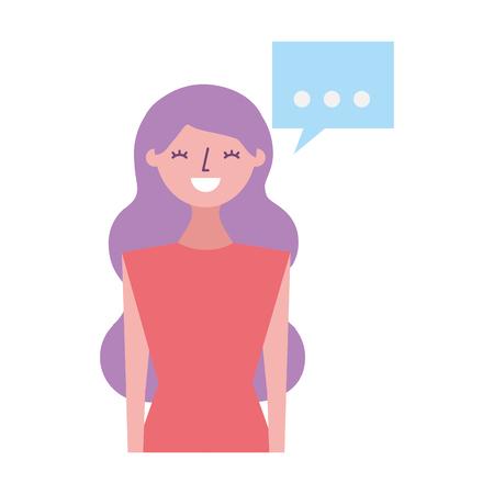 woman speech bubble on white background vector illustration Illustration