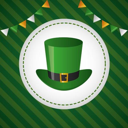 green hat happy st patricks day vector illustration Illustration