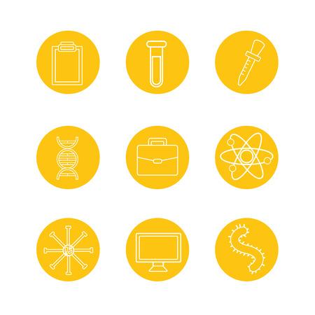 set of laboratory tool science vector illustration