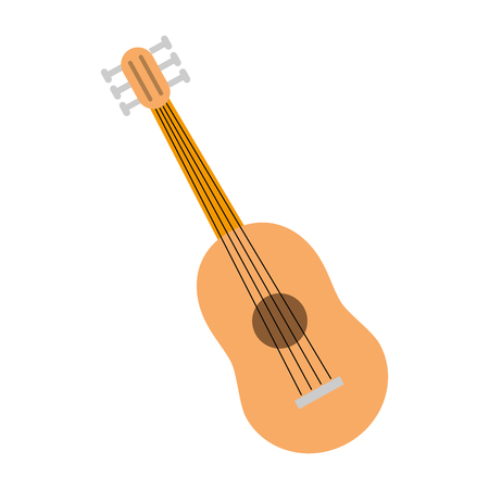 guitar instrument music on white background vector illustration Stock Vector - 118231570