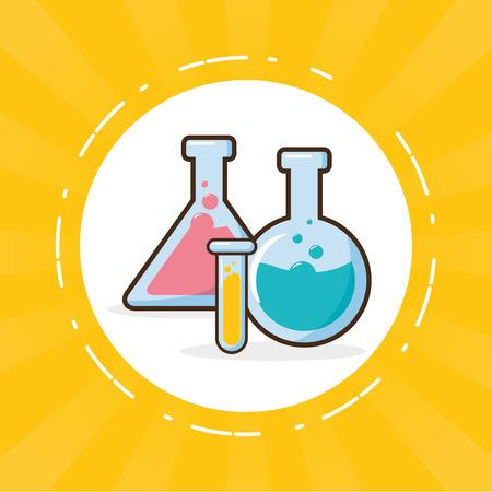 Ilustración de vector de ciencia de herramienta de laboratorio de tubos de ensayo Ilustración de vector