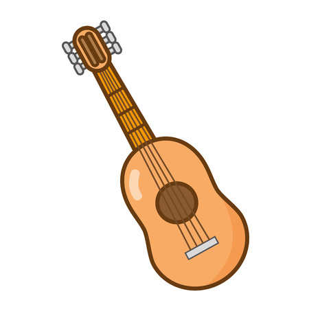 guitar instrument music on white background vector illustration