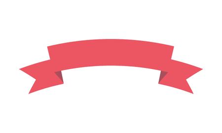 ribbon decoration icon on white background vector illustration