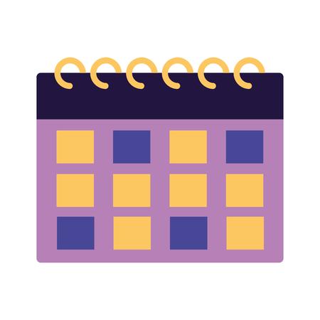 calendar reminder plan on white background vector illustration
