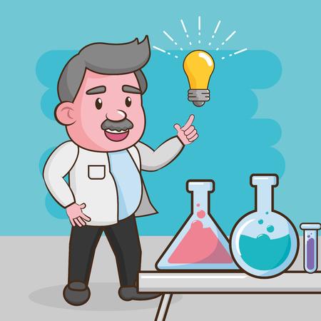 scientific creativity test tubes laboratory science vector illustration