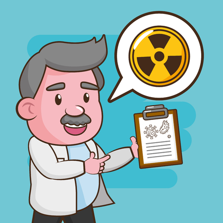 scientific radiation report laboratory science vector illustration