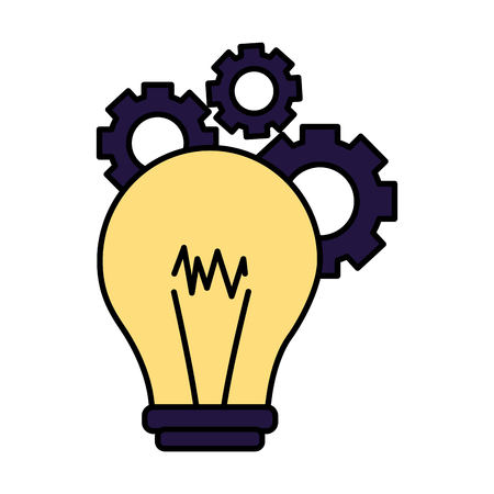 creativity bulb gears on white background vector illustration Zdjęcie Seryjne - 118227332