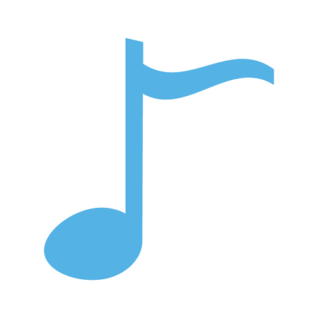 musical note melody on white background vector illustration