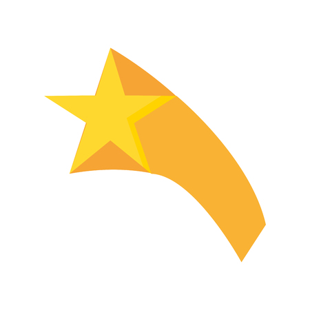 gold star icon on white background vector illustration