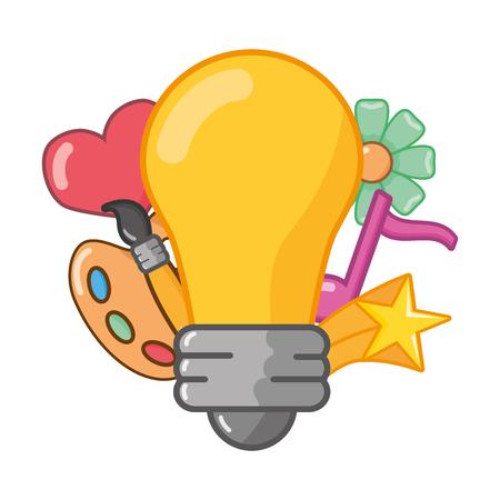 bulb idea creativity feeling art vector illustration Stock Illustratie
