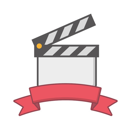 clapperboard film industry on white background vector illustration Stock fotó - 124715283