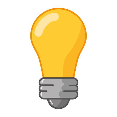 bulb light icon on white background vector illustration Ilustração