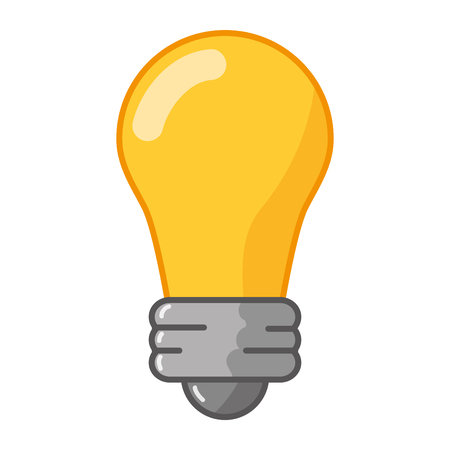 bulb light icon on white background vector illustration Illustration