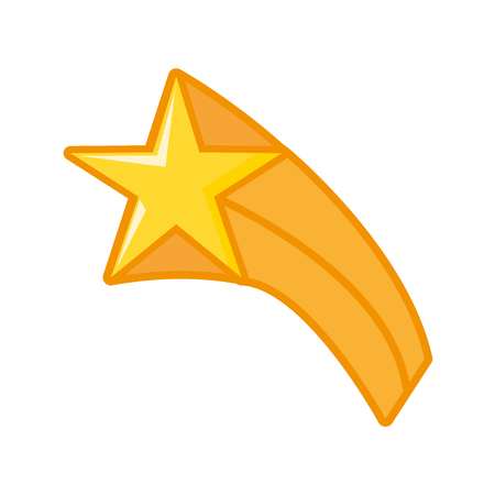 gold star icon on white background vector illustration Stock Vector - 124715289