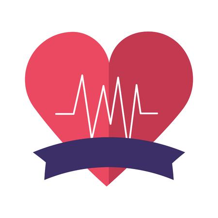 heart beat world health day vector illustration Ilustrace