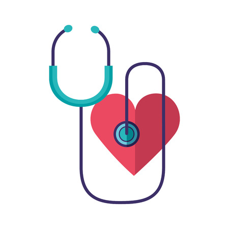 heart stethoscope world health day vector illustration Ilustração