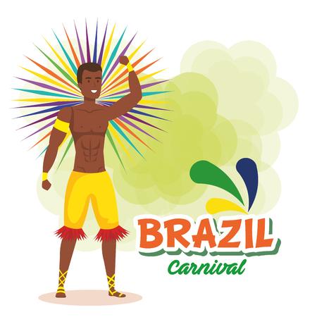 brazilian male dancer character vector illustration design Foto de archivo - 118456263