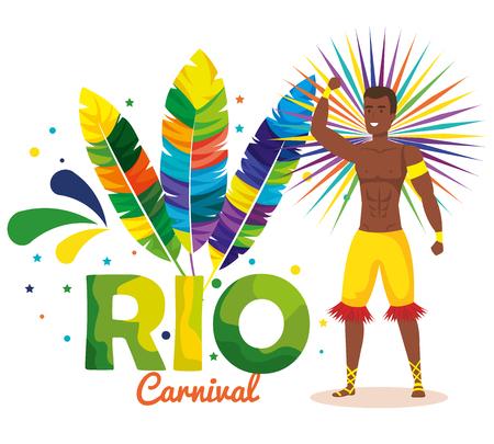brazilian male male dancer character vector illustration design Foto de archivo - 118456280