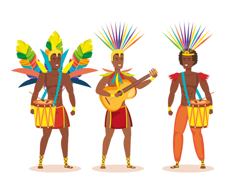 group of brazilian dancers playing instruments vector illustration design Фото со стока - 118459380