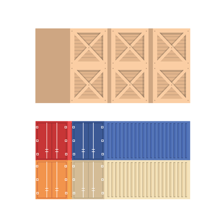 pile containers logistic service vector illustration design