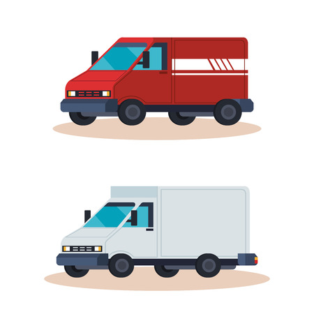 delivery service vehicles vector illustration design