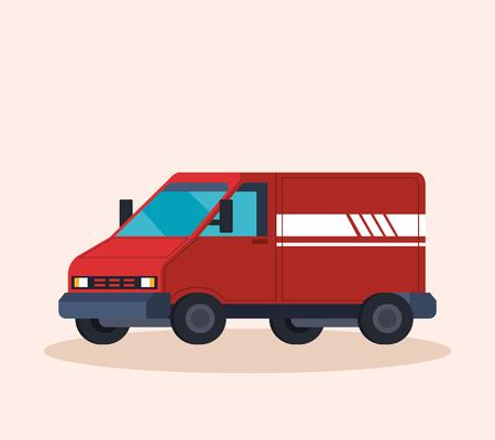 delivery service van vehicle vector illustration design Stockfoto - 124667294