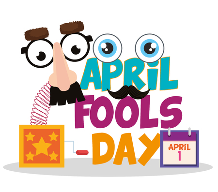 april fools day set icons vector illustration design 写真素材 - 124667360