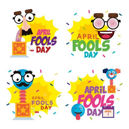 Día de los inocentes, diseño de ilustraciones vectoriales iconos