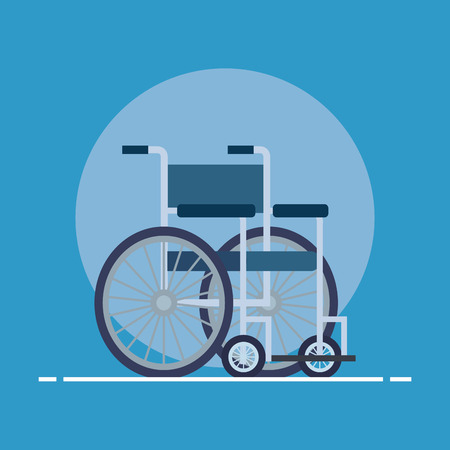 medical wheelchair object to people disabled vector illustration