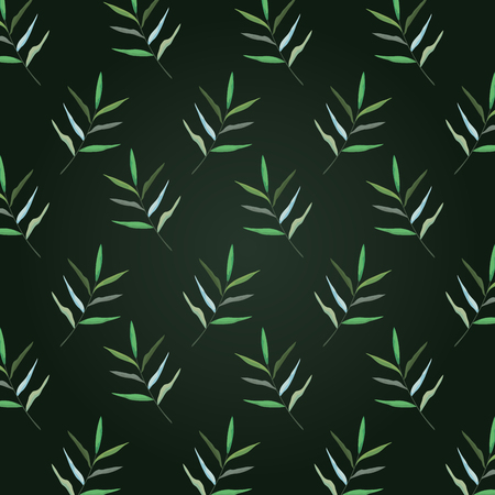 exotic branches leaves plants background vector illustration Illustration