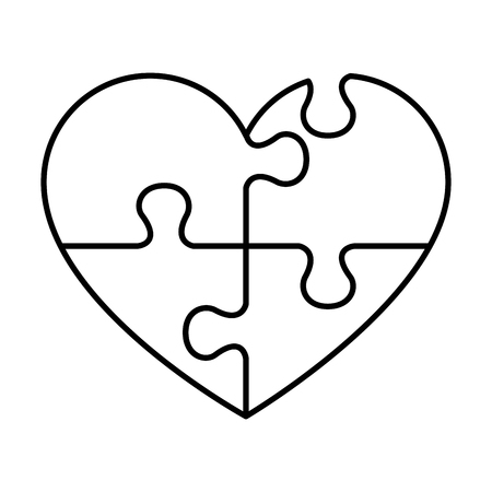 heart with puzzle pieces vector illustration design Banque d'images - 124667706