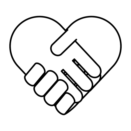 handshake in heart icon vector illustration design Фото со стока - 118459673