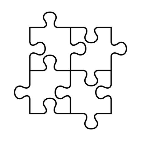 puzzle attached solution icon vector illustration design Illustration