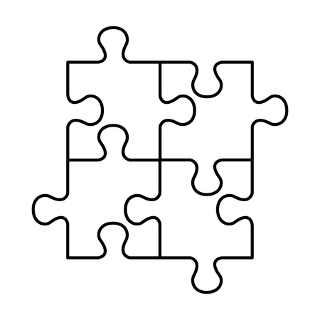 puzzle attached solution icon vector illustration design Stock Illustratie