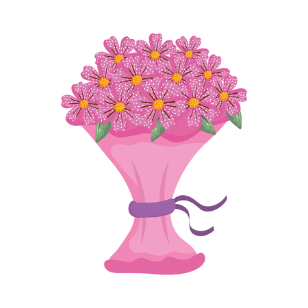 beutiful flowers bouquet icon vector illustartion design Stock Vector - 124667803