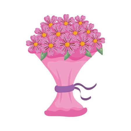 beutiful flowers bouquet icon vector illustartion design