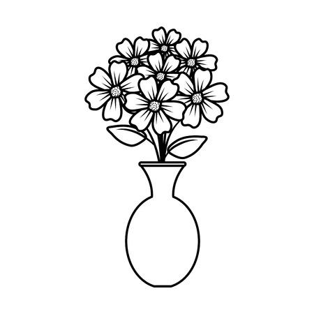 floral decoration in classic vase vector illustartion design Stock Vector - 124667835